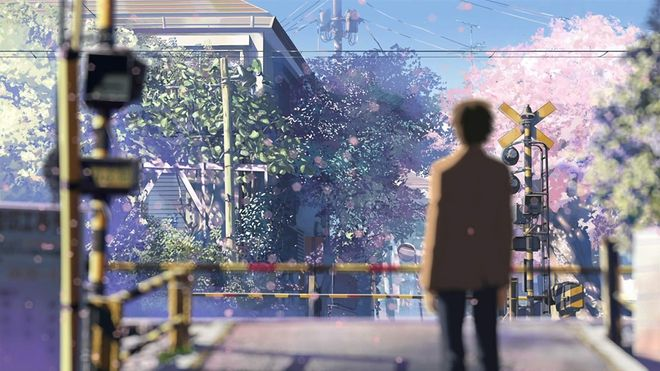 Toono, the protagonist of 5 Centimeters per Second during the movie's climactic scene.